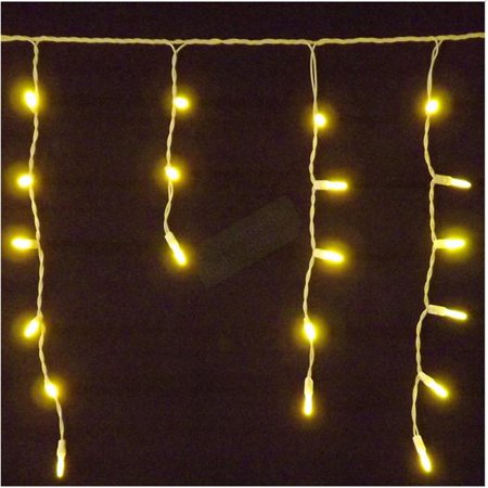 Reinders 88604 R M5mm Icicle Holiday Creations 70 Led Christmas Light String Gold