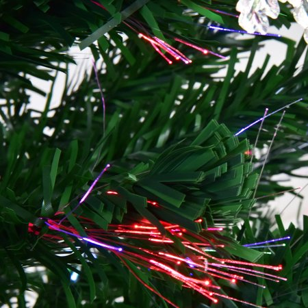 6.5Ft Pre-Lit Fiber Optic Artificial Christmas Tree w ...