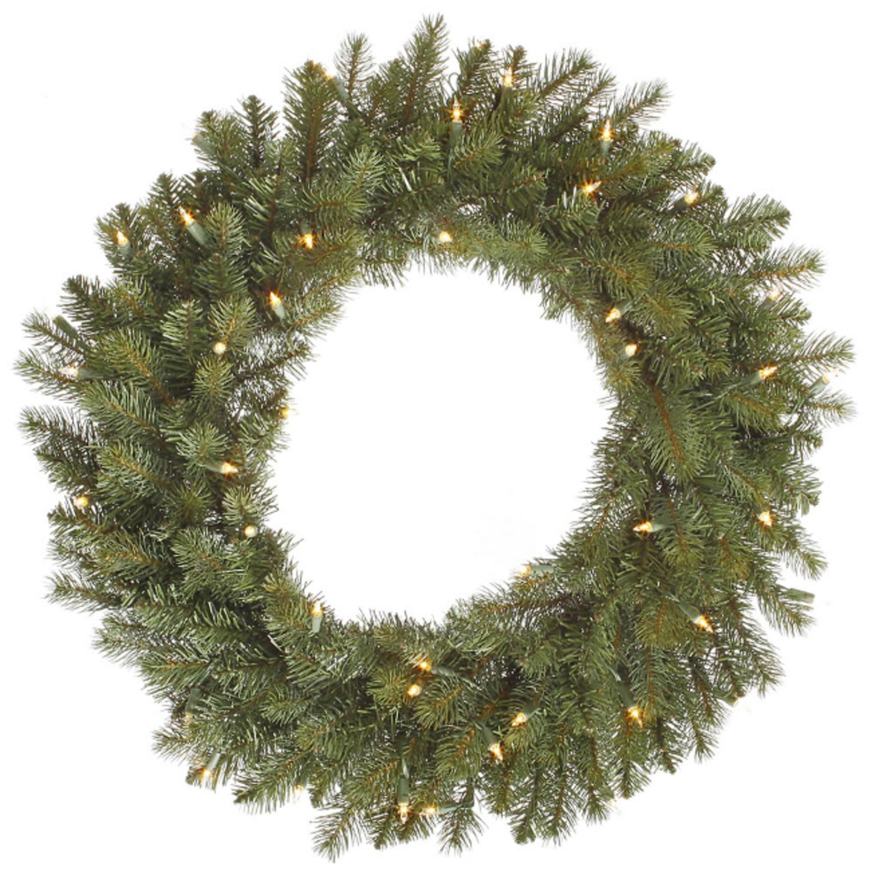 "36"" Pre-Lit Colorado Spruce Artificial Christmas Wreath ��� Warm Clear LED Lights"