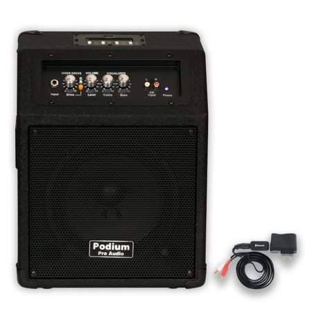 podium pro ppm8 battery powered guitar amp mp3 speaker with bluetooth ppm8b. Black Bedroom Furniture Sets. Home Design Ideas