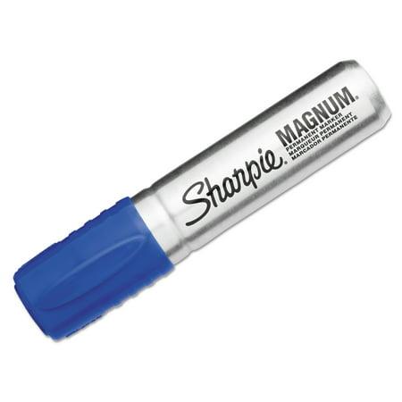 Ek Success Blue Markers (Sharpie Magnum Oversized Permanent Marker, Chisel Tip, Blue)