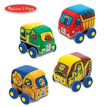 Melissa & Doug Pull-Back Construction Vehicles - Soft Baby Toy Play Set of 4 Vehicles - image 3 of 3