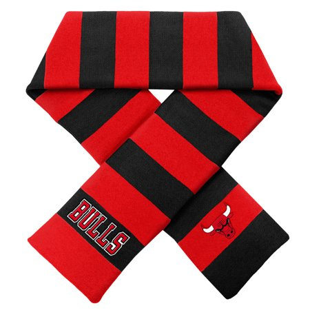 Chicago Bulls Official NBA Adult One Size Striped Rugby Scarf by Forever Collectibles