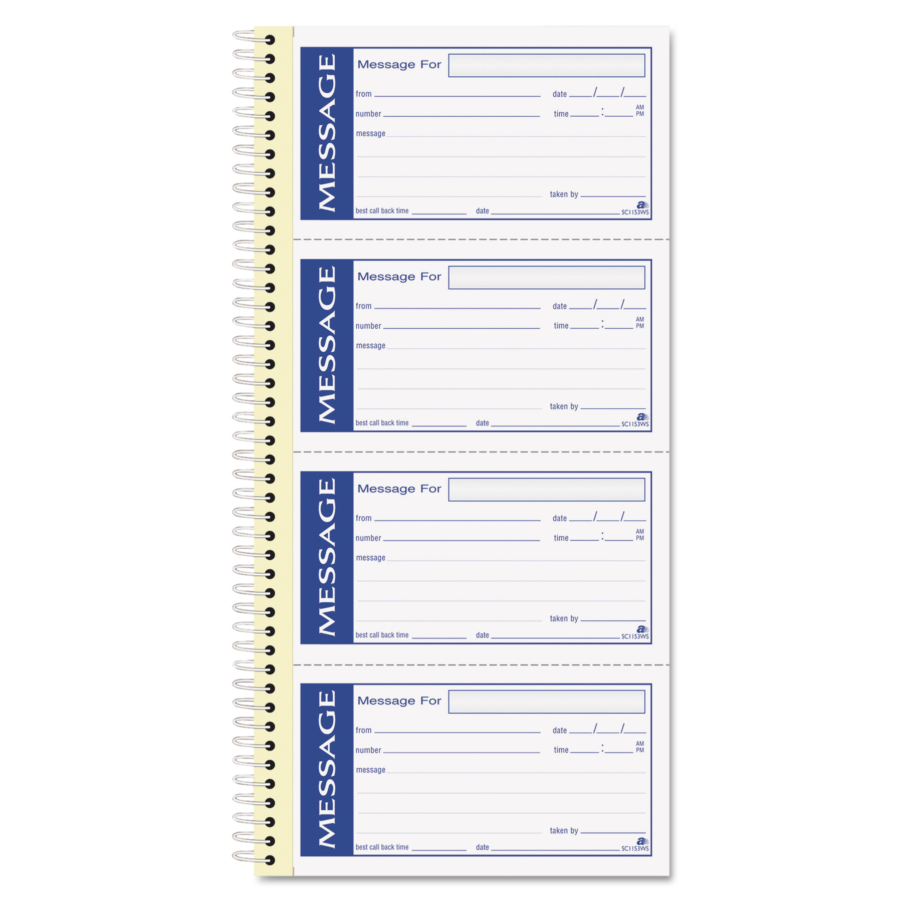 Adams Write 'n Stick Phone Message Pad, 2 3/4 x 4 3/4, Two-Part ...
