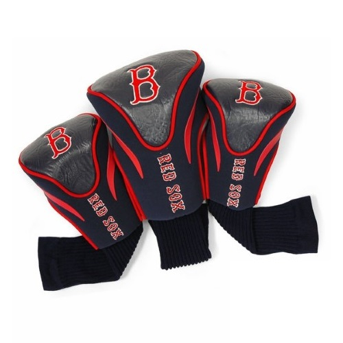 Team Golf MLB 3 Pack Countour Headcover, Boston Red Sox