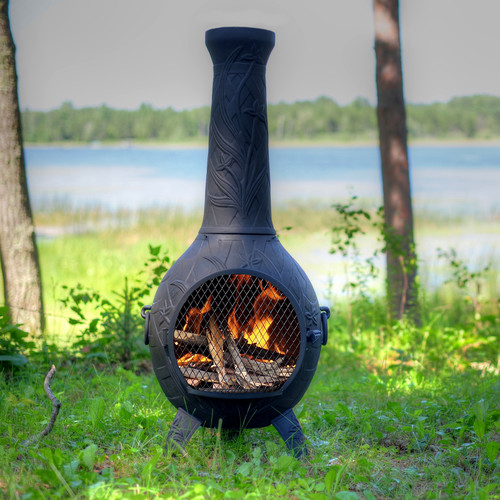 The Blue Rooster Orchid Style Chiminea by The Blue Rooster