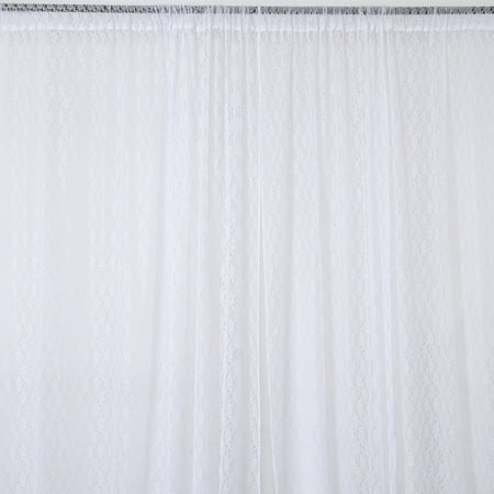 BalsaCircle 10 feet x 10 feet Sheer Lace Backdrop Drapes Curtains Panels - Home Window Treatments Decorations](Office Window Decorations)