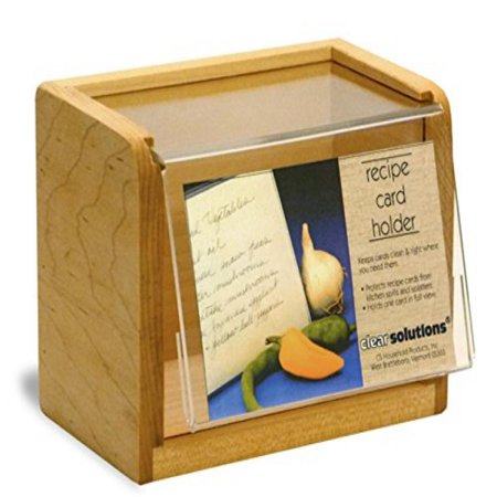 Maple Recipe Box - Maple Recipe Box - Holds 350 3x5 Inch Cards - Made in the USA
