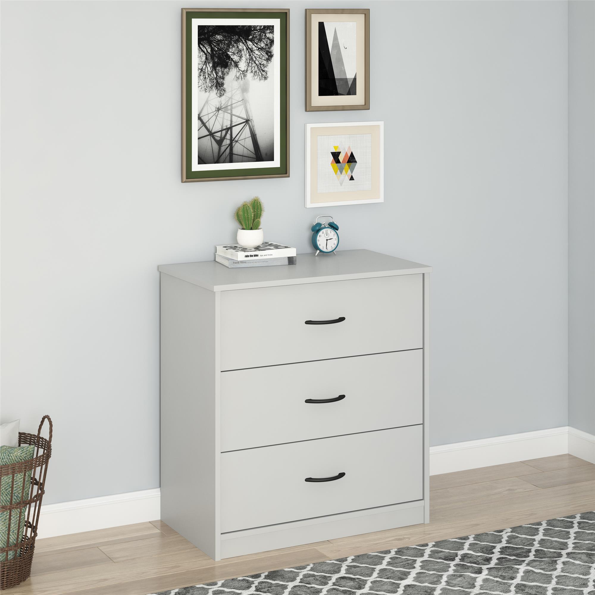 3df6c240f66f Mainstays 3 Drawer Dresser, Multiple Finishes - Walmart.com