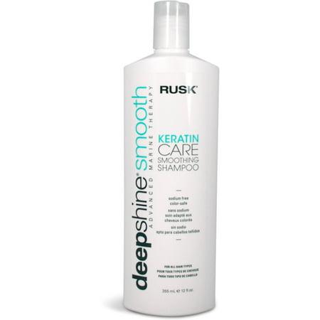 Therapie Marine (Rusk Deepshine Smooth Advanced Marine Therapy, Keratin Care Smoothing Shampoo, 12 oz (Pack of 2))