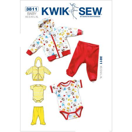 Kwik Sew Pattern Jacket, Pants and Romper, (XS, S, M, L, XL)
