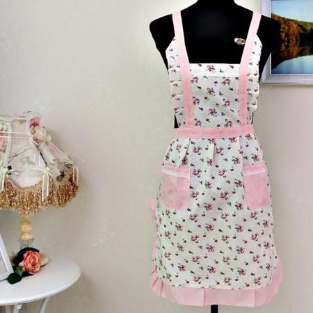Womail Women Lady Restaurant Home Kitchen For Pocket Cooking Cotton Apron (Embroidered Kitchen Cooking Apron)