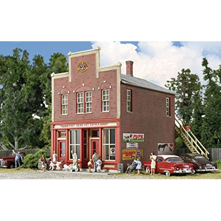 Post Road Pet Supply, Highly Detailed Brick Commercial Building - Perfect  for any Small Business By Walthers Cornerstone