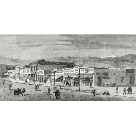 A View Of The Main Street Salt Lake City Utah America In The 19Th Century From El Mundo En La Mano Published 1875 PosterPrint](Costume Shops In Salt Lake City)
