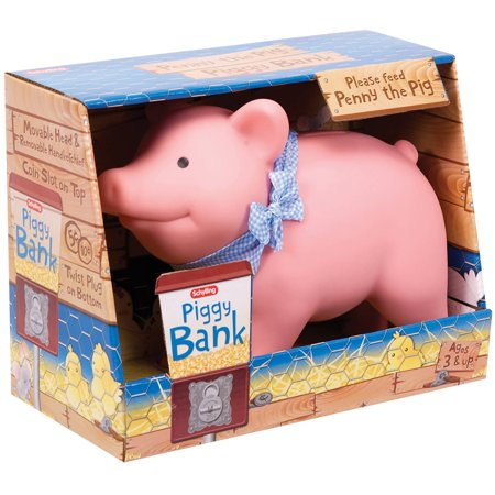Schylling Rubber Piggy Bank (Plastic Piggy Bank)