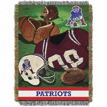(New England Patriots NFL Woven Tapestry Throw (Vintage Series) (48inx60in))