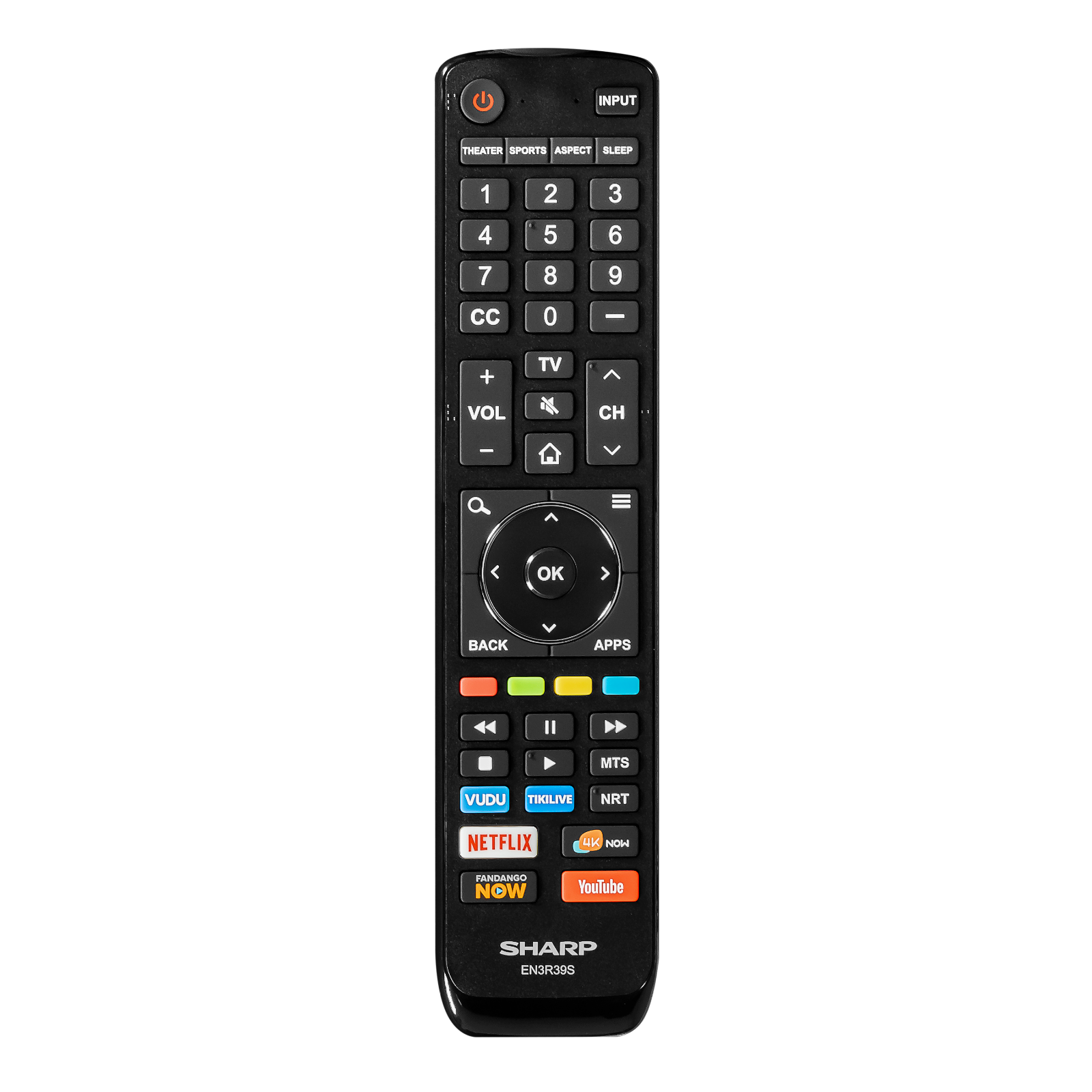 Sharp EN3R39S Original Smart TV Remote Control - Walmart ...