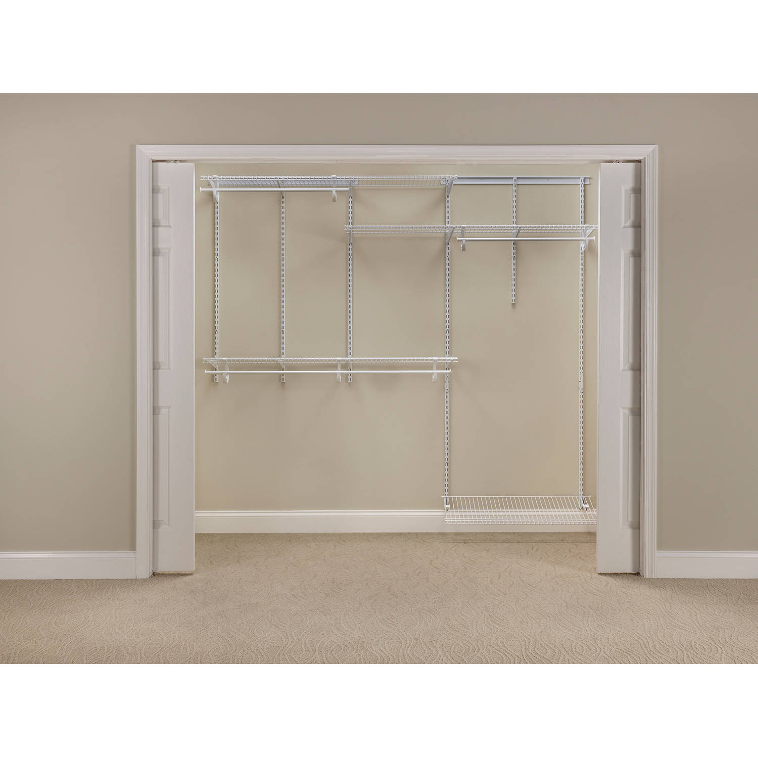 Closetmaid ShelfTrack Closet Organizer Kit, 5u0027 To 8u0027   Walmart.com