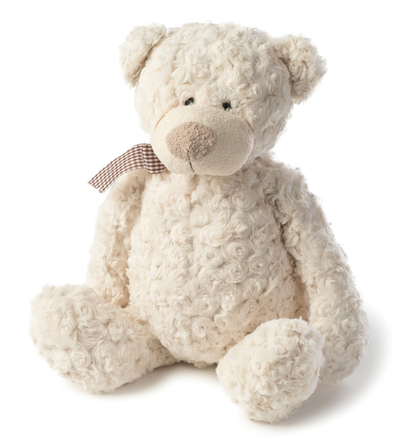 Joon Freddy Rosy Plush Teddy Bear, Cream, 10 Inches by Joon