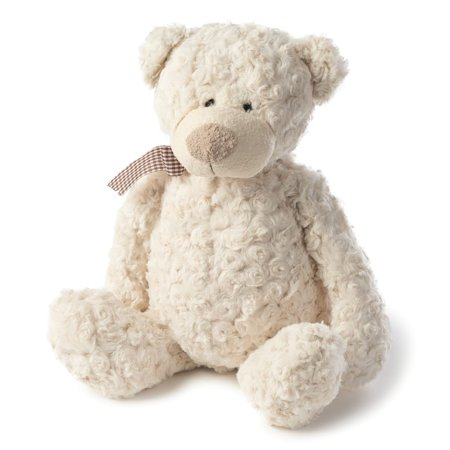 Joon Freddy Rosy Plush Teddy Bear, Cream, 10 Inches