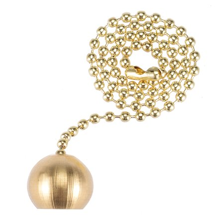 Decorative Brass Ball Pendant with 12 inch Long Pull Chain for Ceiling Light - image 4 de 4
