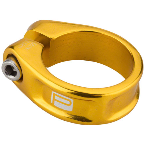 Promax Components FC-1 Fixed Mountain/BMX Bicycle Seat Clamp - PX-SC130F318 (Gold - 31.8)