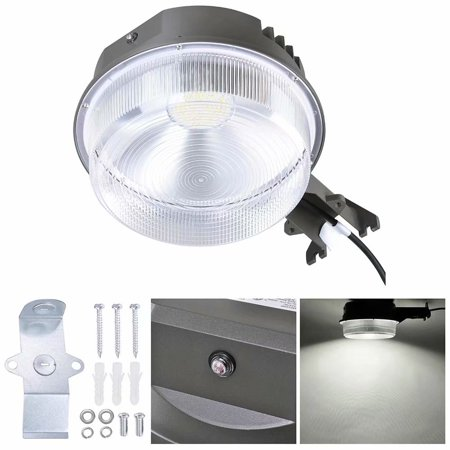 70W Outdoor Lights – Lighting for Deck Post Fence Steps or Dock - 9100lm Bright White LED, Waterproof, Slate - Slate Post Accessories