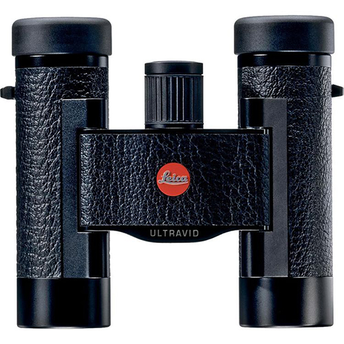 Leica Sport Optics Ultravid BCL Compact Binocular 10x25mm, Roof Prism, Black with Leather Case