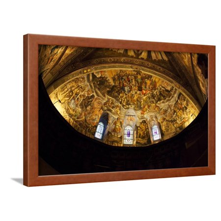 Domed Ceiling of the Basilica of San Francesco D'assisi Framed Print Wall Art By Terry