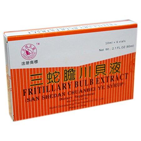 Fritillary Bulb Extract (Sweet) Oral Liquid (Shedan Chuanbei Ye Syrup) 6 Vials
