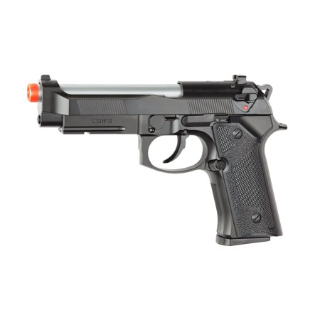 ASG M9 Gas Powered Airsoft Pistol, Silver and Black with (Gas Airsoft Uzi)