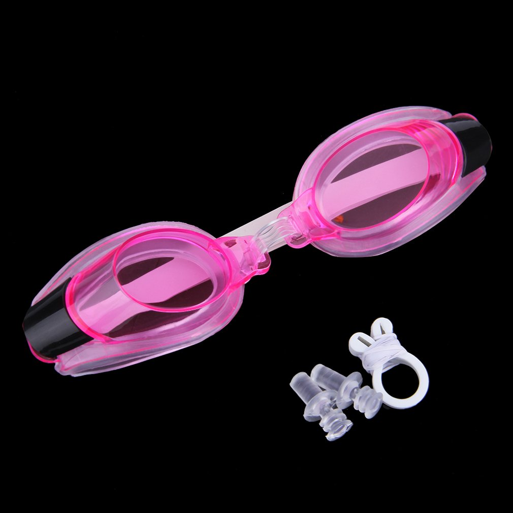 Anti Fog UV Swimming Goggles Adjustable Glasses With Nose Clip+Ear Plug for Children by