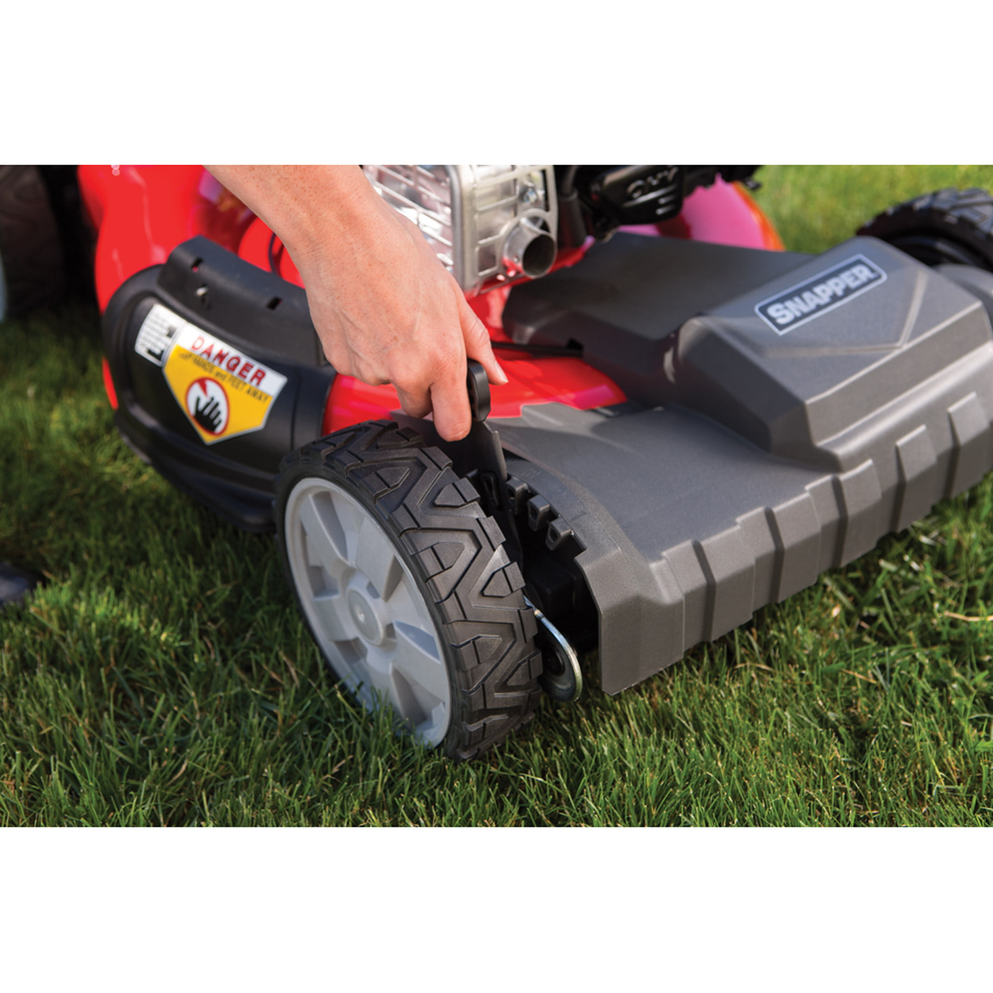 snapper 21 self propelled gas mower with side discharge mulching