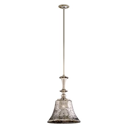 Polished Nickel Lantern Pendant (Corbett Lighting 103-42 One Light Bar Pendant From The Argento Collection, Polished)