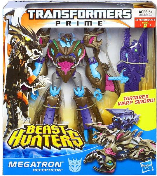 Transformers Prime Beast Hunters Voyager Class Sharkticon Megatron Figure A3395