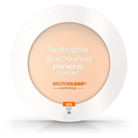 Organic Mineral Loose Foundation Powder - Neutrogena Skinclearing Mineral Powder, Classic Ivory 10,.34 Oz