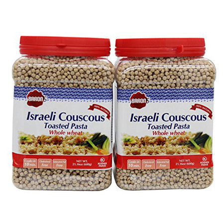 Baron's Kosher Whole Wheat Israeli Couscous Toasted Pasta 21.16-ounce Jar (Pa...