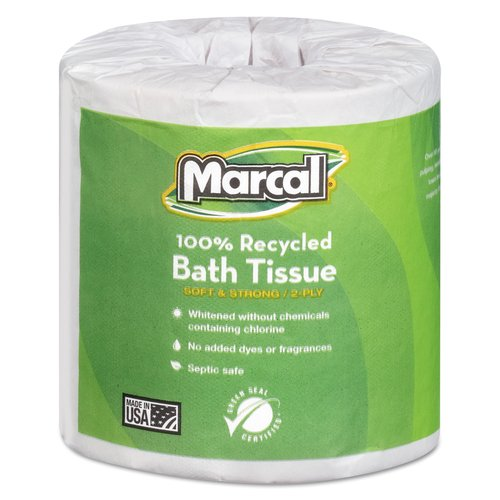 Marcal Small Steps 1005 Premium Recycled Two-Ply Bath Tissue, 504 sheets, 80 ct