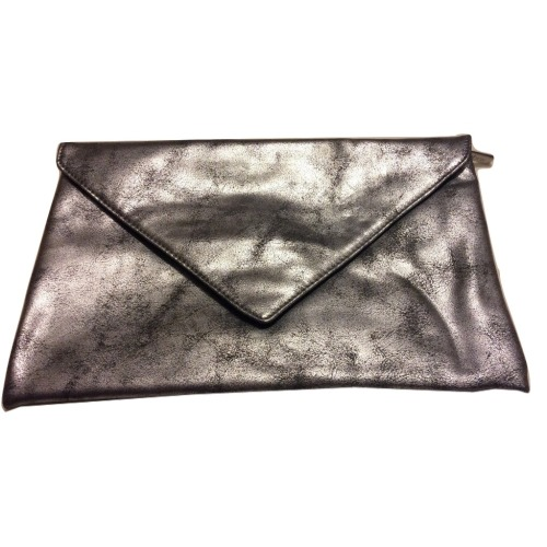 Smashbox Envelope Style Silver Makeup Cosmetic Bag
