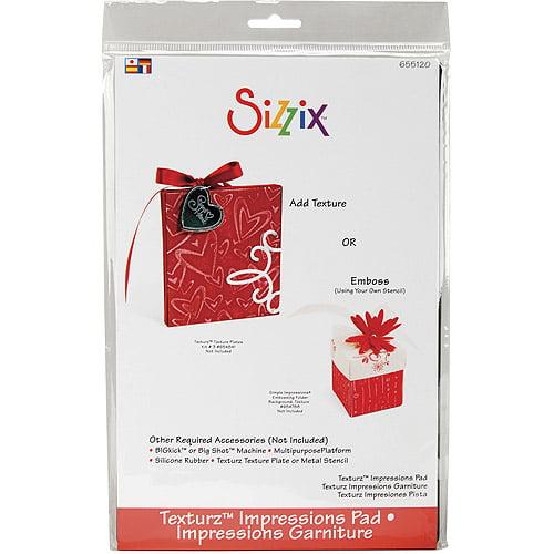 """Sizzix BIGkick/Big Shot Texturz Impressions Pad, 8-7/8"""" x 5-7/8"""" x 1/8"""""""