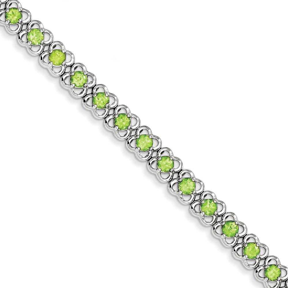 Sterling Silver Peridot Bracelet 5.67 cwt by