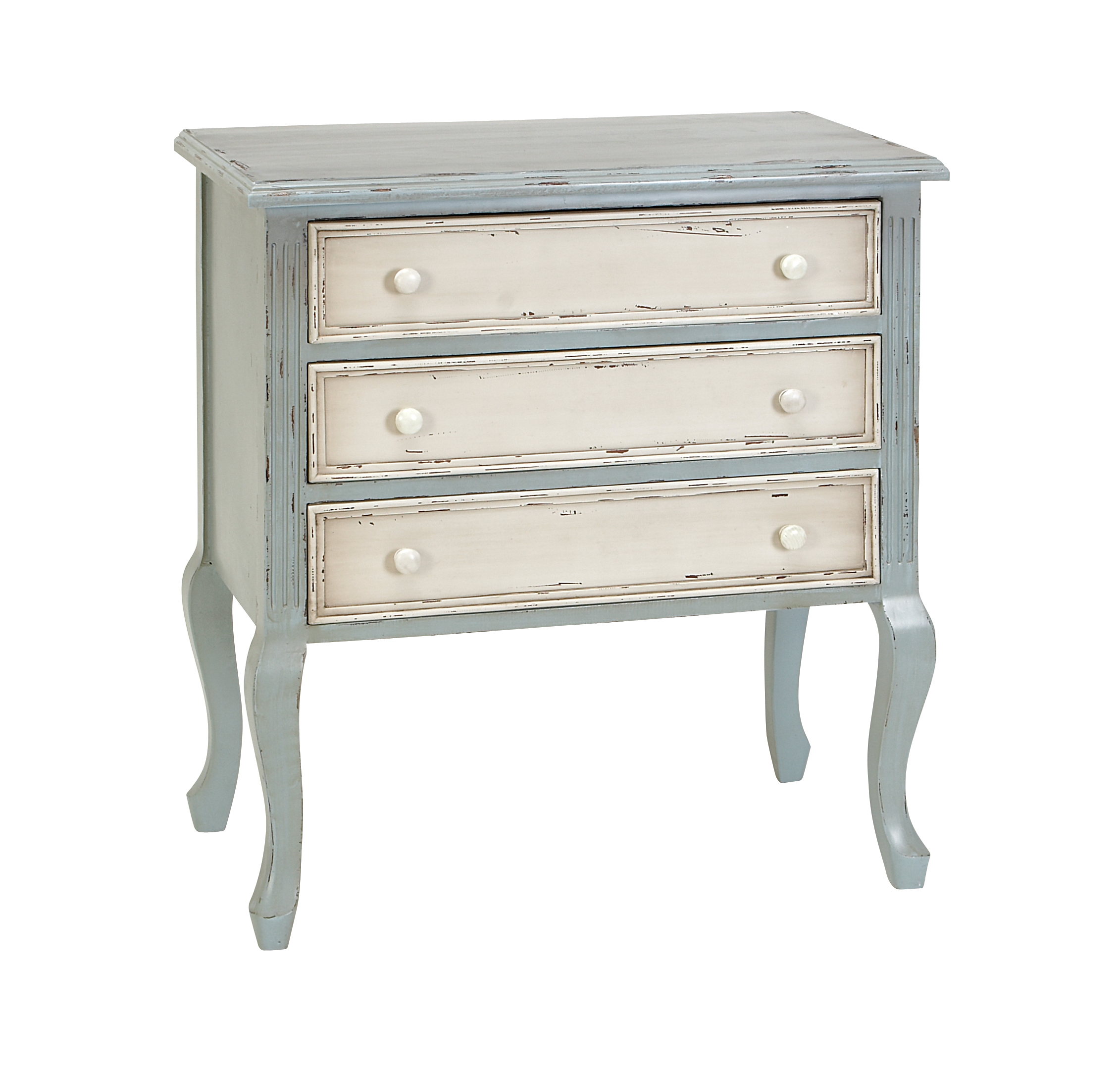 Decmode Farmhouse 33 Inch Distressed Wooden Chest