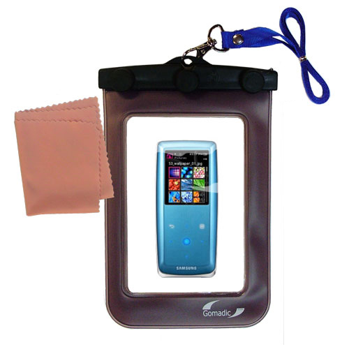 Gomadic Clean and Dry Waterproof Protective Case Suitablefor the Samsung YP-S3 Digital Media Player to use Underwater