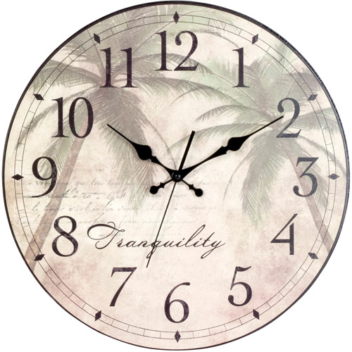 Generic Better Homes and Gardens Palm Plaque Clock