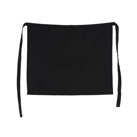 Yosoo Black Half Waist Short Aprons With Pockets For Home Kitchen Pub Cafe Waiter Waitress , Womens Aprons, Half Short