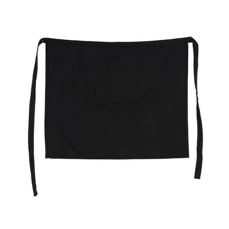 Lv. life Black Half Waist Short Aprons With Pockets For Home Kitchen Pub Cafe Waiter Waitress , Unisex Apron, Womens Aprons