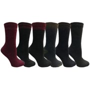 Yacht&Smith 6 Pairs Womens Boot Socks, Thick Warm Winter Crew Sock (6 Pairs, Assorted F)