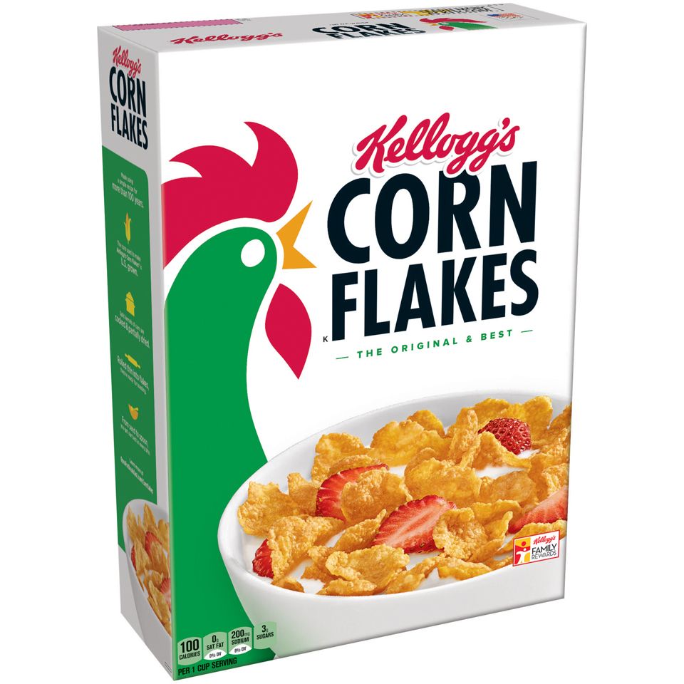 Kellogg's Corn Flakes Breakfast Cereal, Original, 24 Oz