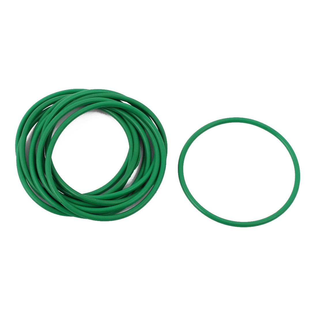 10 Pcs 32 x 1.5mm Oil Resistant Nitrile Rubber O Sealing Ring Nonpoisonus Green