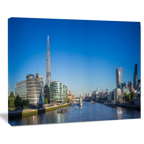 Design Art 'London Panoramic Shot' Photographic Print on Wrapped Canvas